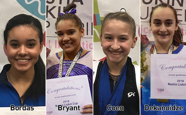 First four athletes advance to 2018 Nastia Liukin Cup