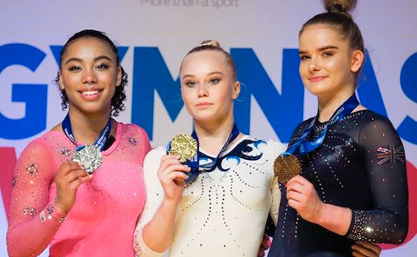 Frazier wins the silver medal at Birmingham World Cup