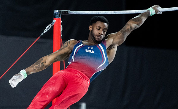 Kimble wins high bar silver at the Doha World Cup