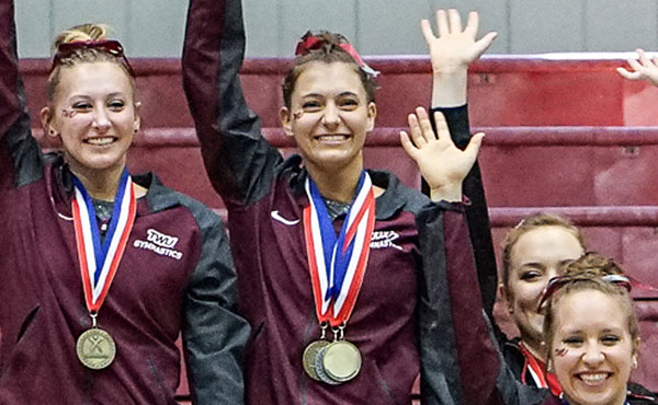 Jones wins three event titles at 2018 USA Gymnastics Women's Collegiate National Championships