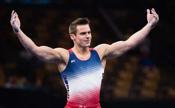 Mikulak holds on to top all-around spot on first day men's gymnastics