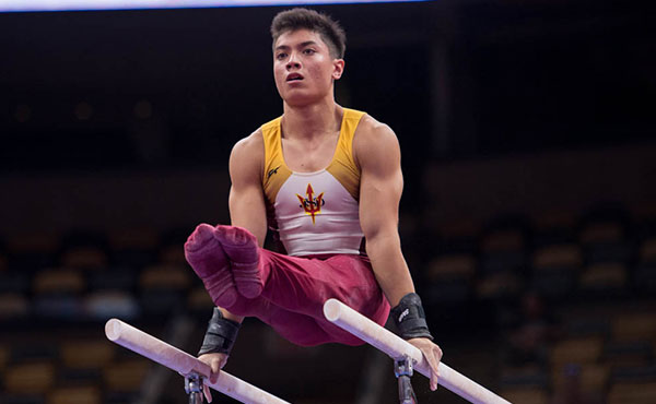 Briones named 2018 Youth Olympian for men's gymnastics