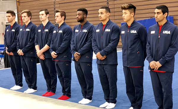 Mikulak posts top all-around score on first of two competitions at 2018 Men's World Team Selection Camp