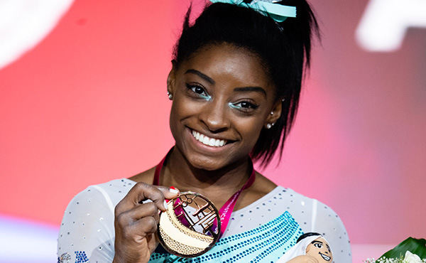 Simone Biles Named Hickok Belt® Award Winner for November 2018