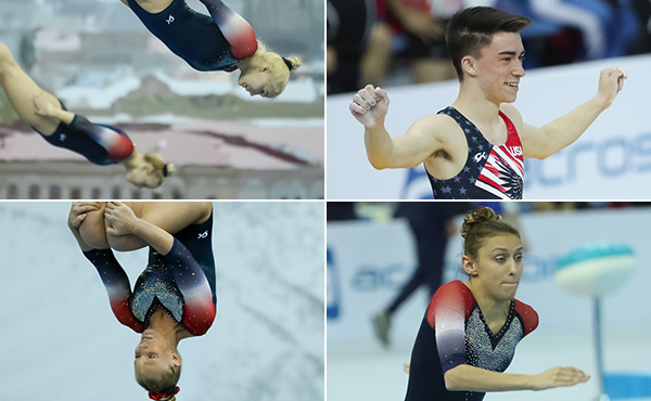 Five more U.S. Trampoline athletes jump into medal rounds at Worlds