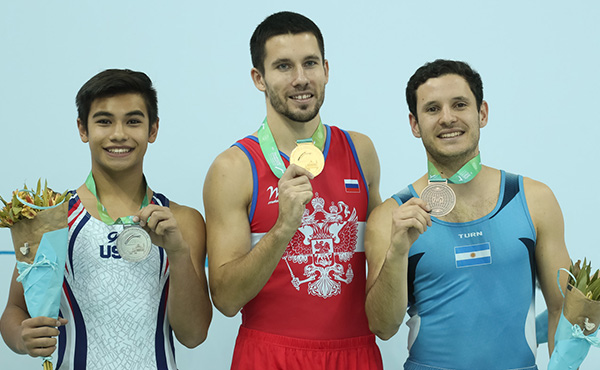 Brand new passes lead to sterling silver for Padilla at World Trampoline and Tumbling Championships