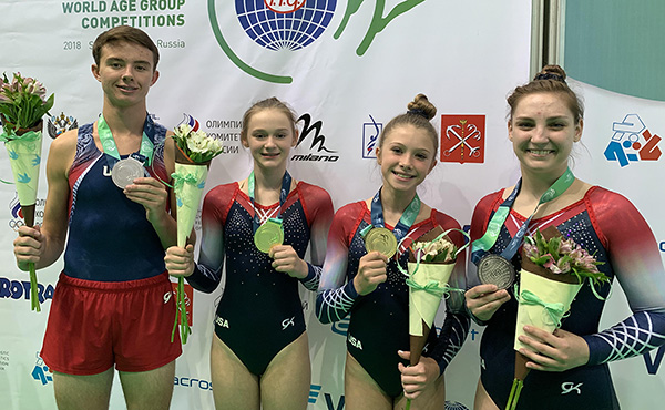 U.S. gymnasts medal at 2018 World Trampoline and Tumbling Age Group Competition