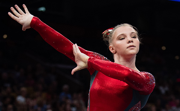 Carey advances to floor exercise final at Doha World Cup finals