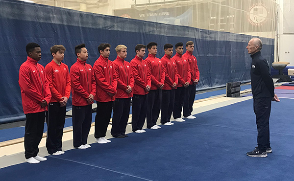 11 gymnasts participate in men's Level 10 Junior National Team Camp