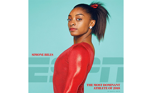 ESPN names Biles most dominant athlete of 2018