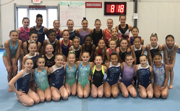90 gymnasts attend women's January developmental, invitation camps