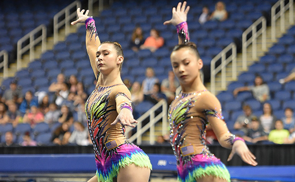 U.S. women's pair is second after first of two-day prelims at 2019 Las Vegas Acro Cup