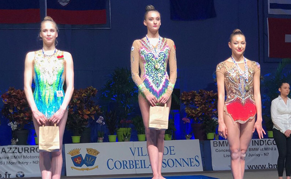 Griskenas wins all-around bronze at Corbeil International Tournament