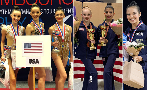 USA medals in rhythmic events in Czech Republic, Luxembourg