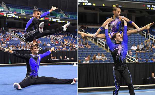 Two defending acro pair champions plan to defend titles at 2019 USA Gymnastics Championships