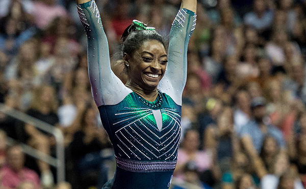 Biles soars to top of all-around rankings at 2019 U.S. Championships, performing two new skills along the way