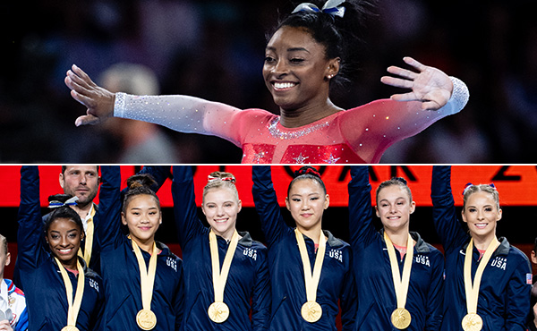 Biles, Women's Worlds Team nominated for Team USA's Best of October Award