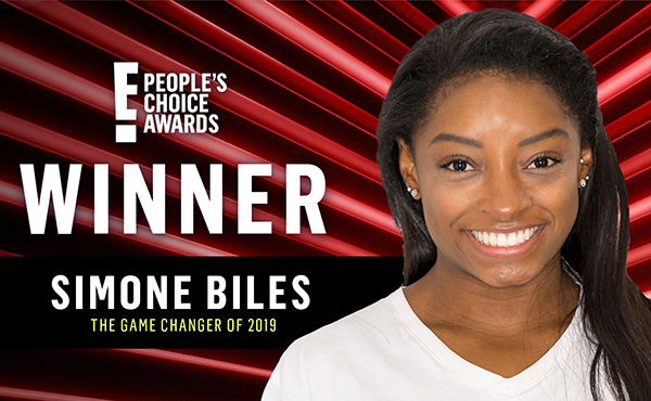 Biles wins 2019 People's Choice Awards Game Changer Award
