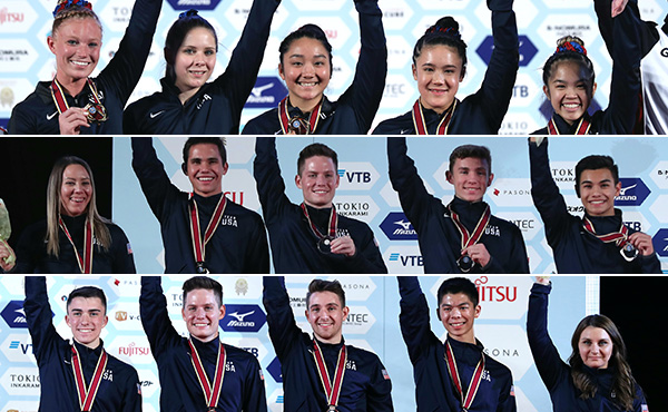 USA wins three team medals at 2019 World T&T Championships