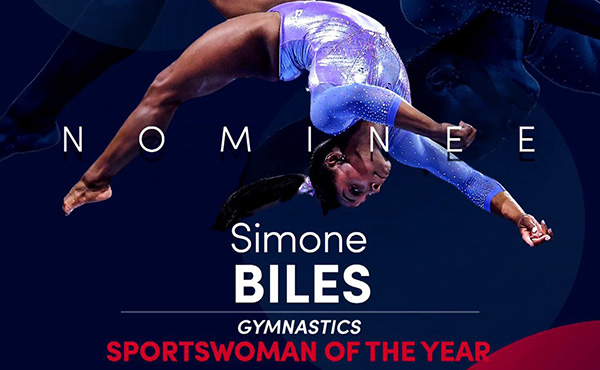 Biles nominated for Sportswoman of the Year for 2020 Laureus World Sports Awards