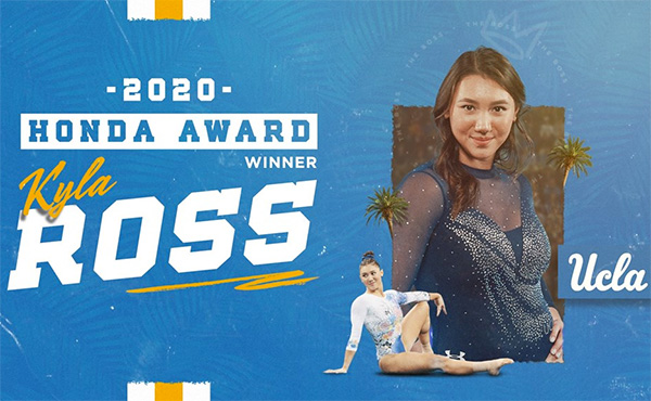 UCLA Gymnast Kyla Ross Wins Honda Sport Award