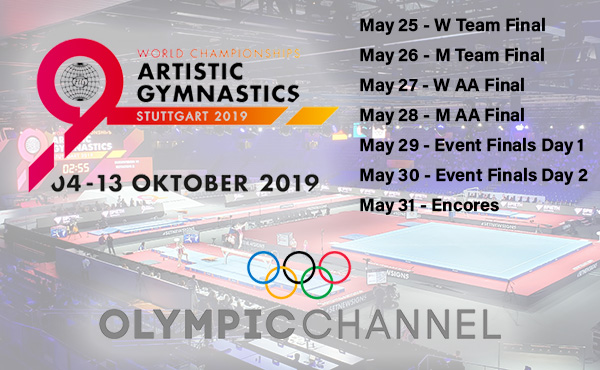 Olympic Channel to air 2019 World Championships May 25-May 31