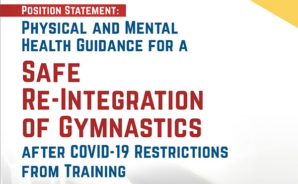 Physical and Mental Health Guidance for a Safe Re-Integration of Gymnastics (PDF)