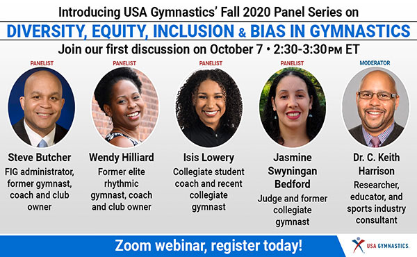 USA Gymnastics announces participants for October 7 panel on diversity, equity and inclusion in gymnastics