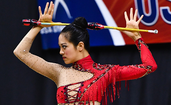 Zeng notches second top-ten all-around finish of 2021 Rhythmic World Cup Series, finishes sixth in hoop apparatus final