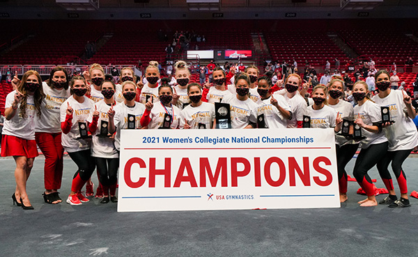 Southeast Missouri State clinches team title at 2021 USA Gymnastics Women's Collegiate National Championships, Redhawks' Solorzano-Caruso takes all-around crown
