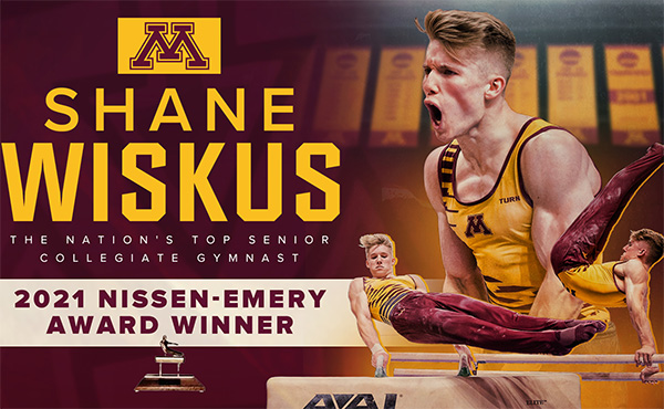 Minnesota's Shane Wiskus Named Nissen-Emery Winner as Nation's Top Men's Senior Collegiate Gymnast