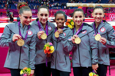 Usa Gymnastics Women Win Team Gold At 2012 Olympic Games