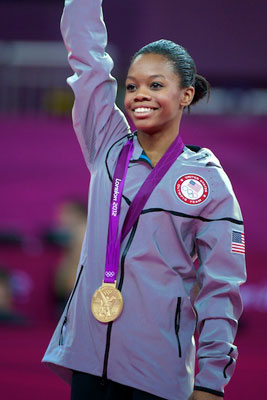 Resultado de imagem para Olympic athlete Gabby Douglas captured two gold medals in the 2012 London Games