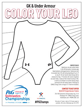 usa gymnastics color your leo contest begins today olympic gymnastics coloring pages gymnastics uneven bars coloring pages - Gymnastics Coloring Pages