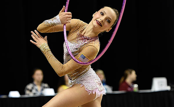 U.S. rhythmic athletes competed in France, Greece and Ukraine