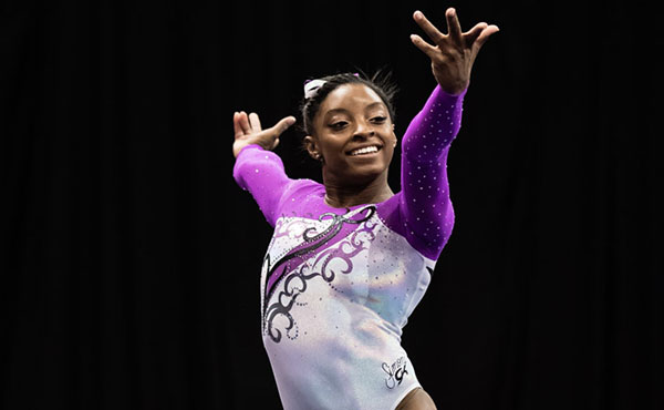 Biles rockets to top of the standings after night one of the P&G Championships