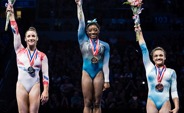 Biles continues her march toward Rio with fourth-straight P&G Championships title