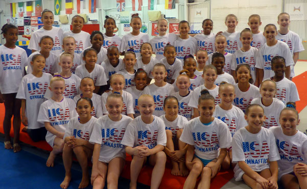 45 gymnasts participated in July Developmental Camp