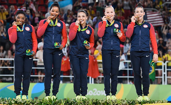 2016 U.S. Olympic Team for women's gymnastics wins Team USA's Team of the Olympic Games, presented by Dow