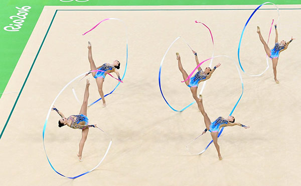 U.S. rhythmic group finishes 14th at Rio Olympics