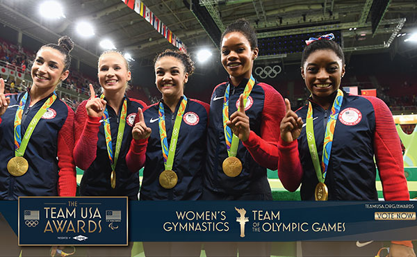 Final Five, Biles are among Olympic finalists for USOC's Team USA Awards presented by Dow, Best of the Games