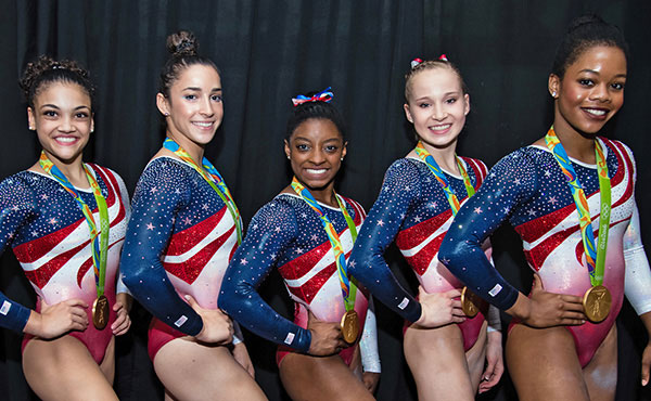 2016 Olympians, including Final Five, are among gymnasts recognized at 2017 P&G Gymnastics Championships
