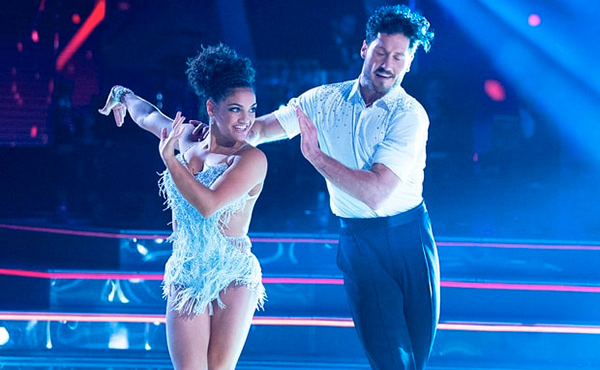 Laurie Hernandez advances on Dancing with the Stars