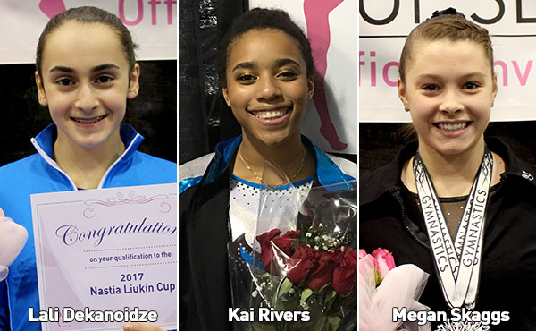 First three athletes qualify for 2017 Nastia Liukin Cup