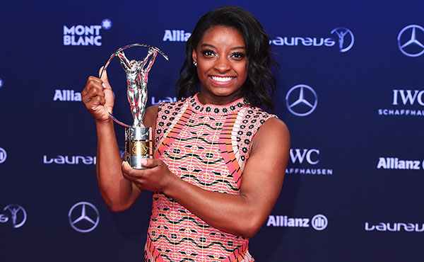 Biles named Laureus World Sportswoman of the Year