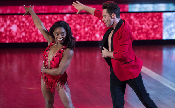 Simone Biles finishes fourth on Dancing with the Stars