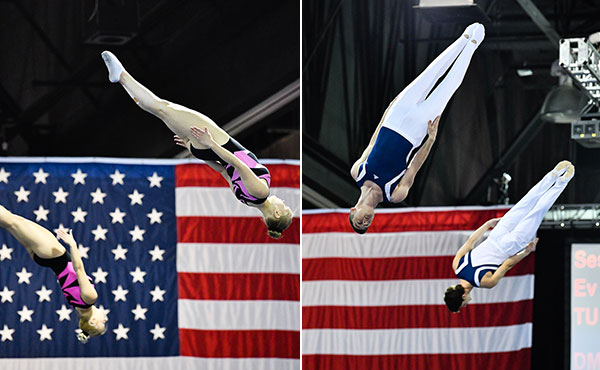 Ahsinger/Johnson, Gluckstein/Shostak win senior synchro titles at USA Gymnastics Championships