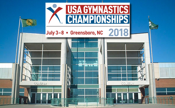 Greensboro will host 2018 USA Gymnastics Championships