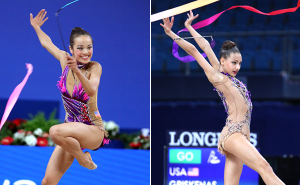 Zeng, Griskenas lifted U.S. rhythmic gymnastics to historic heights in 2017