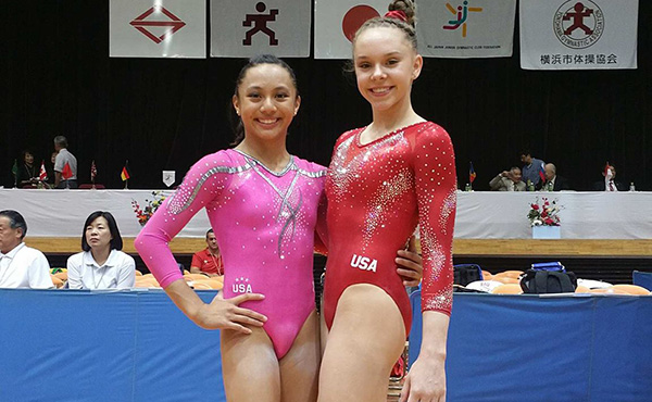 O'Keefe, Malabuyo go one-two in women's all-around at International Junior Gymnastics competition